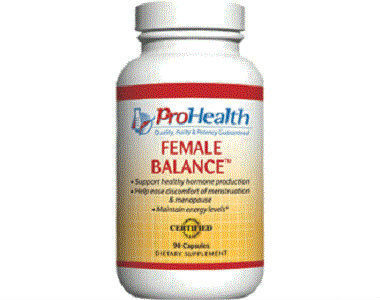 ProHealth Female Balance Review - For Relief From Symptoms Associated With Menopause