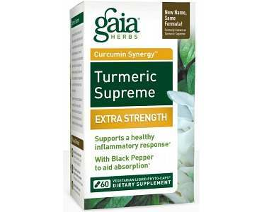 Gaia Herbs' Turmeric Supreme Extra Strength Review - For Improved Overall Health