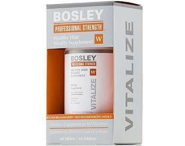 Bosley Professional Strength Healthy Hair Vitality Supplement Review - For Dull And Thinning Hair