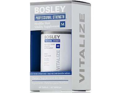 Bosley Professional Strength Healthy Hair Vitality Supplement for Men Review - For Thinning Hair