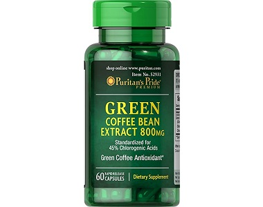 Puritan's Pride Green Coffee Bean Extract Weight Loss Supplement Review