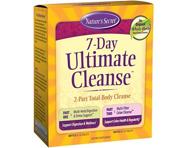 Nature's Secret 7 Day Ultimate Cleanse Review - For Flushing And Detoxing The Colon