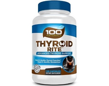 100 Naturals Thyroid Rite for Thyroid