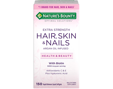 Nature Bounty Extra Strength Hair Skin and Nails Review - For Dull And Thinning Hair