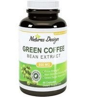 Natures Design Fat Burning Coffee Bean Extract for Weight Loss