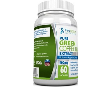 ProActive Nutrients Pure Green Coffee Bean Extract Weight Loss Supplement Review