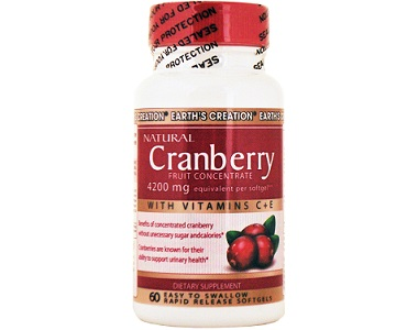 Earth Creation Natural Cranberry for Urinary Tract Infection