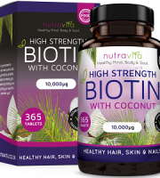 Nutravita Biotin Supplement with Coconut Oil for Hair Growth