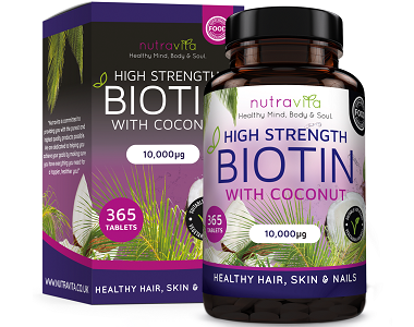 Nutravita Biotin Supplement with Coconut Oil Review - For Hair Loss, Nails and Problematic Skin