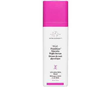 Drunk Elephant T.L.C. Framboos Glycolic Night Serum Review - For Younger Healthier Looking Skin